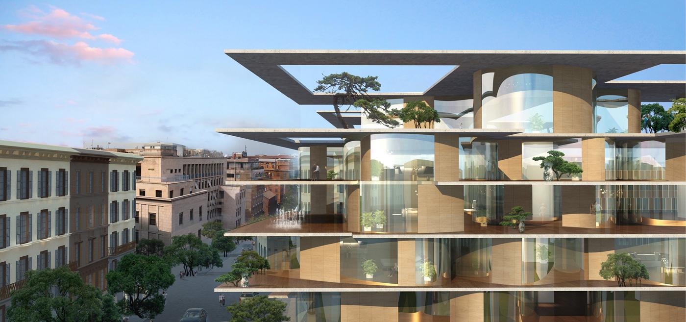 Mad architects un bosco verticale a roma un museo isola for Architetto giardini roma