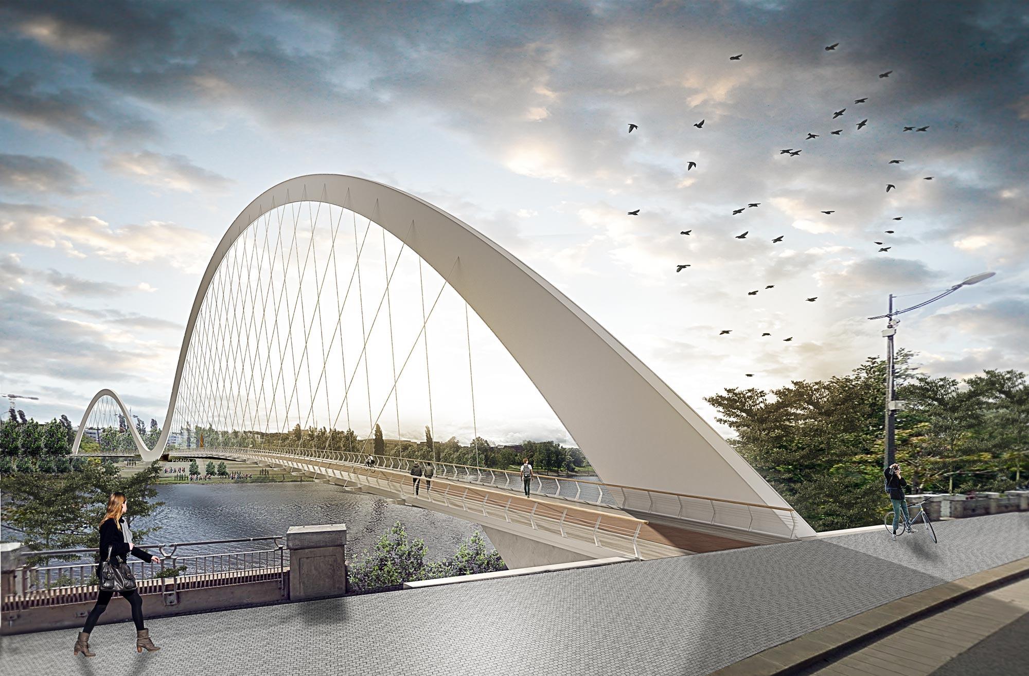 Studi Architettura Roma Lavoro sao architecture realizza un ponte pedonale a praga