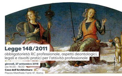 Legge 148/2011 obbligatorietà RC professionale, aspetti deontologici, legali e risvolti pratici per l'attività professionale