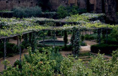Anfiteatro Castrense: oggi un giardino di Paolo Pejrone, con opera di Jannis Kounellis
