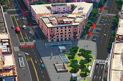 Nuova piste ciclabili a Roma, nuova sistemazione per via La Spezia - via Taranto