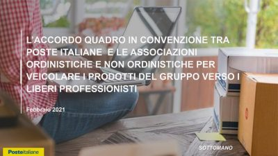 Servizi dedicati in convenzione con Poste Italiane per iscritti OAR